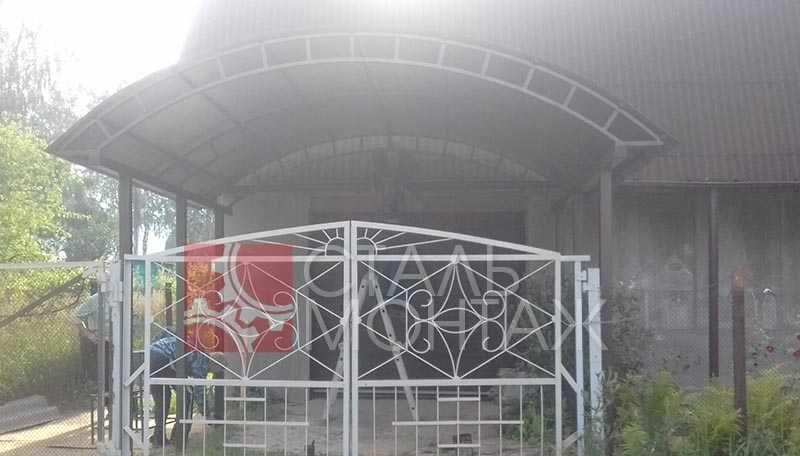 Фото автоматических откатных ворот